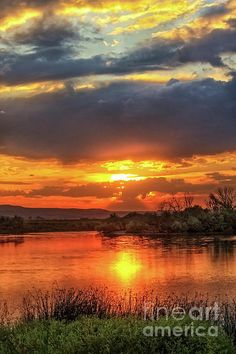 Beautiful River Sunset : http://fineartamerica.com/profiles/robert-bales/shop/all/all/all