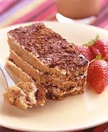 The secret to this low-cal tiramisu? Three layers of moist, sweet cake (fat-free angel food), creamy cheese (fat-free) and chocolate (cocoa and shaved semi-sweet). #recipe #WWLoves