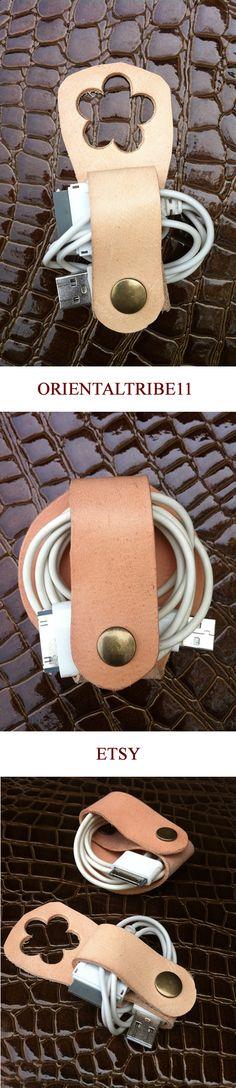 #leather #usb #holder #iphone #ipod #ipad #cable