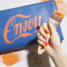ネオンカラーで盛り上げるエッジーな夏最旬モードなネイルアート Beauty Nails, Continental Wallet, Nail Art, Nail, Objects, Nail Arts, Nail Art Designs