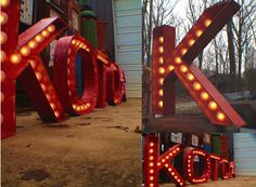 Movie Theater Marquee Letters.