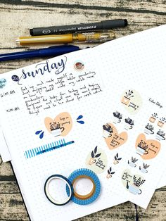 Sticker Shop, Printable Stickers, Some Fun, A5, Bullet Journal, Printables, Digital, How To Make, Design