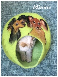 Felted cave for Rusian toy terrier