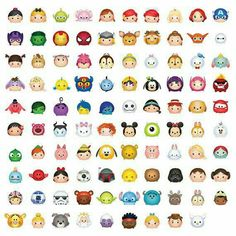 99 Tsum Tsum Character Digital size Print Files by OhWowDesign Kawaii Disney, 365 Kawaii, Cute Disney Drawings, Kawaii Drawings, Cute Drawings, Disney Doodles, Disney Love, Disney Art, Disney Pixar
