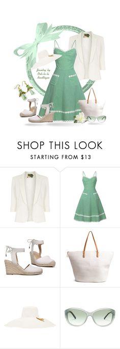 """Mint Green Summer Dress - Jewelry by Ooh-la-la Beadtique"" by ooh-la-la-beadtique ❤ liked on Polyvore featuring Jolie Moi, Franco Sarto, H&M, Littledoe and Burberry"