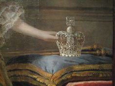 Crown of Queen Charlotte of Mecklenburg-Strelitz (painting detail), consort of King George III, Great Britain (late c. Im A Princess, Princess Tiara, Royal Jewels, Crown Jewels, Crown Decor, Invisible Crown, Tiaras And Crowns, Royal Crowns, Galerie D'art