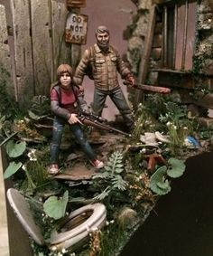 """""""The last of us…"""" 1/72 scale. By     Igorz. Tribute video game """"The Last of Us"""". #Post_Apocalyptic #diorama #vignette #figure_mode"""