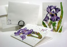 Free Watercolor Painting Tutorial: Bearded Iris