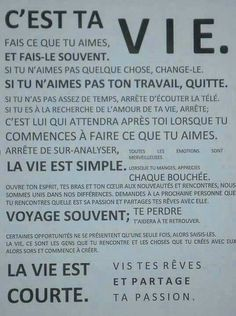 a+ta+vie. Famous Quotes, Me Quotes, Quelque Chose, All I Want, Change, Feel Good, Inspirational Quotes, Positivity, Messages