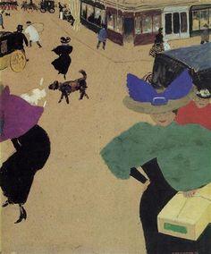 A Street (also known as Street Corner) - Felix Vallotton
