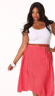 red polka dot skirt plus size #UNIQUE_WOMENS_FASHION