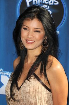 """Kelly Hu Photos - Actress Kelly Hu arrives at the premiere of Disney Channel's """"Phineas And Ferb: Across The Dimension"""" on August 2011 in Los Angeles, California. - Premiere Of Disney Channel's """"Phineas And Ferb: Across The Dimension"""" - Arrivals Girl Celebrities, Beautiful Celebrities, Beautiful Actresses, Gorgeous Women, Amazing Women, Celebs, Aquarius, Kelly Hu, Jolie Photo"""