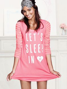 The Angel Sleep Tee by Victoria's Secret large Pajama Day, Pajamas All Day, Pajama Pants, Cute Pjs, Cute Pajamas, Comfy Pajamas, Victoria's Secret, Sexy Bra, Night Gown