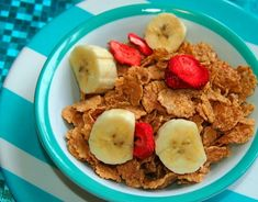 Special K Red Berries, it's 110 calories for one cup and with the 1/2 banana slices comes to 179 calories