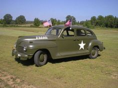 1942 Plymouth Army Staff Car commonly used by various branches of the Military during WW II