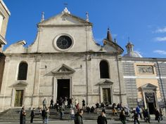 Santa Maria Del Popolo home of one of the most beautiful chapel's Chigi Chapel originally designed by Raphael and finished by Bernini. Rae Parodi 12/31/13
