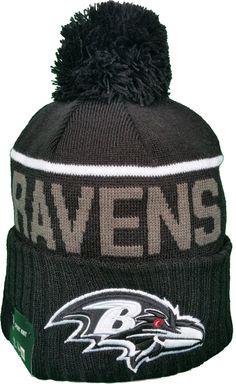 Baltimore Ravens Fleece Lined Black Pom Toque