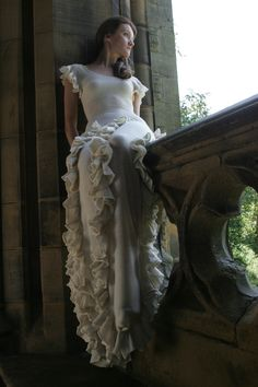Truffle dress, by Makepiece, Todmorden Unitarian Church, photography by Chipps Chippendale