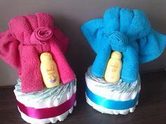 Luiertaart olifant: - 15 luiers - Olifant: 1 handdoek, 1 gastendoekje & 2 washandjes - Zwitsal product  Verkrijgbaar in alle kleuren
