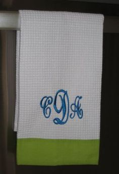 Monogrammed Dish Towel | Custom Tea Towel | Marley Lilly | Initials