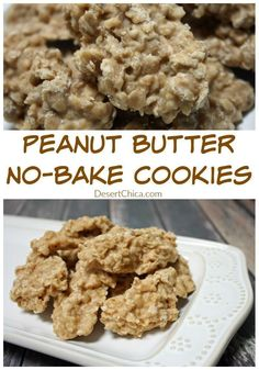 Peanut Butter No Bake Cookies Recipe that can also be gluten free!