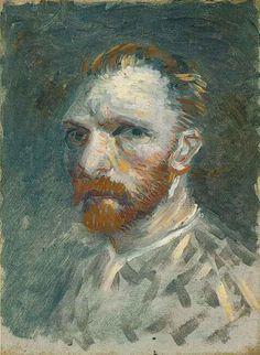 Self-Portrait - Vincent van Gogh . Created in Paris in Spring-Summer, Located at Van Gogh Museum. Find a print of this Oil on Canvas Painting Van Gogh Portraits, Van Gogh Self Portrait, Vincent Van Gogh, Van Gogh Museum, Art Van, Dutch Artists, Famous Artists, Desenhos Van Gogh, Charles Gleyre