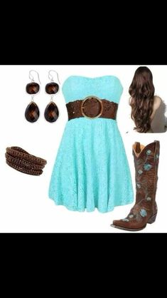 28 Ideas Dress Casual Country Girl Outfits For 2019 Country Girl Outfits, Country Dresses, Country Fashion, Cowgirl Outfits, Country Girls, Country Style, Country Jam, Southern Girls, Country Blue