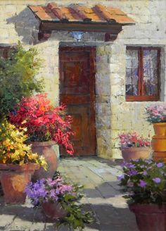 Discover recipes, home ideas, style inspiration and other ideas to try. Paintings I Love, Beautiful Paintings, Pictures To Paint, Love Art, Painting Inspiration, Painting & Drawing, Landscape Paintings, Watercolor Paintings, Art Projects