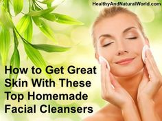 Hey...instead of cooking dinner tonight, you can whip up some homemade facial cleansers instead!