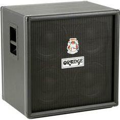Orange Amplifiers OBC Series OBC410 600W 4x10 Bass Speaker Cabinet in Orange Tolex