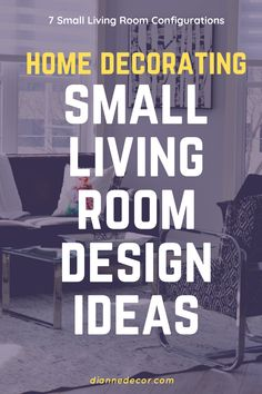 How do you make a small living room look bigger? Here are 7 small living room design ideas to maximize your space.    #smalllivingroomideas #smalllivingroom #livingroomdesign #livingroomideas #smalllivingroomdesign #interiordesign #interiordecorating #homedecorating #inteirorstyling #decoratingideas Small Living Room Design, Living Room Seating, Small Living Rooms, Living Room Designs, Rental Home Decor, Hall Interior Design, Small End Tables, Living Room Decor Inspiration, Furniture Fix