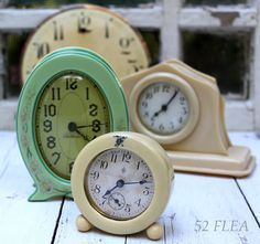 Vintage celluloid clocks