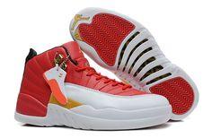Girls Air Jordan 12 GS White Red Gold For Womens Cheap For Sale Women Air Jordan 12 - Nike official website Up to 50% discount