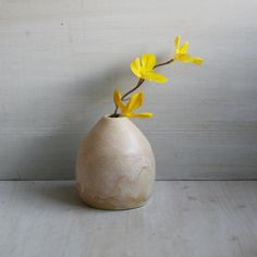 Small Ceramic Vase, Handmade Pottery White and Gold Ceramic Bud Vase, Perfect Hostess Gift, Ready to Ship Made in USA on Etsy, $22.00