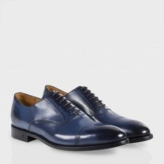 Paul Smith Shoes - Men's Navy Leather Berty Brogue Shoes