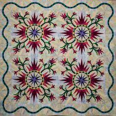 Cactus Rose ~ Quiltworx.com, made by Linda Tellesbo.