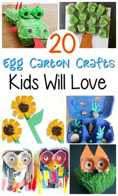 20 Egg Carton Crafts