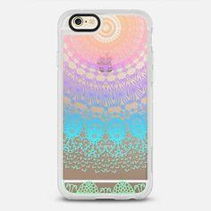 BOHO LACE CANDY RAINBOW - New Standard Case in Clear and Clear by @monikastrigel | @casetify