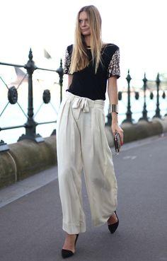 Silk pants idea