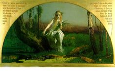 My favourite painting ever....Arthur Hughes | [Ophelia] | © Manchester Art Gallery | oil on canvas, 27 x 48.45