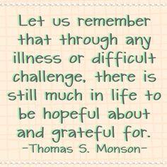 Hopeful and grateful. #LDSquotes #PresMonson.