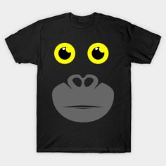 15a74c8e6a Funny Gorilla Face Halloween Carnival T-Shirt and Gifts https://www.