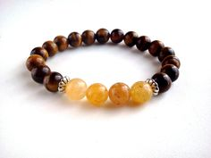 Tiger eye jade bracelet Tiger eye bracelet by GreenJadeGoddess, $16.50
