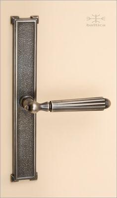 Gabriel Backplate 24.6cm   Atique Nickel   Custom Door Hardware