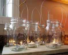 How to make wire hangers for the mason jars