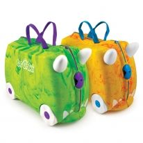 Trunkisaurus Rex & Rox: Mini #suitcase with #teddy seatbelts & bits pouch http://www.palmerstores.com/product/trunkisaurus-rex-and-rox/1381/