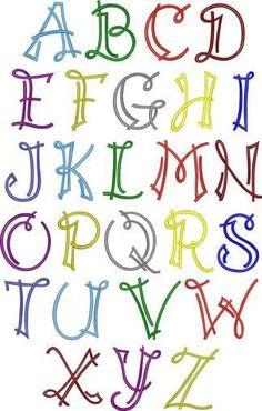Essas letras coloridas me fazem sorrir