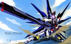 gundam seed destiny.  freedom.  kira's gundam.  fell in love with the show when i went to the motherland in '05.  we watched it with our host family's boys and i bought the rest of the series on ebay.
