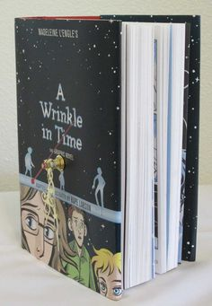 A Wrinkle in Time Book Clock by Mybooklandia on Etsy  #AWrinkleInTime, #madeleinel'engle, #mybooklandia, #upcycle, #bookclock