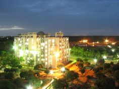The beauty of IBS Hyderabad Campus exposed to the lights - #nightview